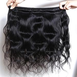 Image 5 - עלי שמיים שיער פרואני גוף גל 3 חבילות עם סגירת מראש קטף קו שיער 5x5 סגירת עם חבילות Weave רמי שיער הרחבות