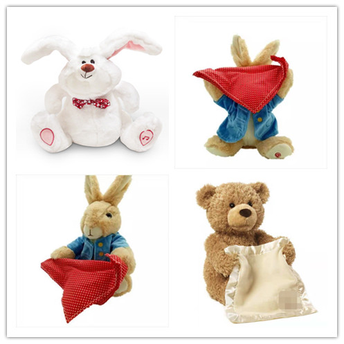 Humor Ted Peek A Boo Bunny,Bear,toys and gifts for Children,electronic,musical,flapping ears,talking and singing