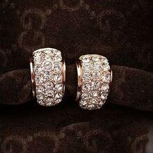 Gold earings fashion jewelry boucle d'oreille clip on earrings women orecchini donna no pierced ear clip