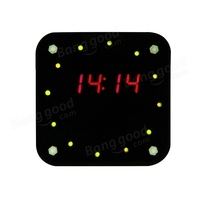 DIY DS1302 Rotation LED Electronic Clock Kit Acrylic Box