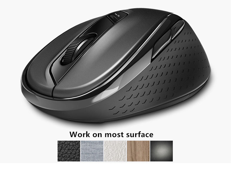 Black Mouse 2.4G Wireless Mouse Wireless Mute Business Office Small and Portable 8PCS