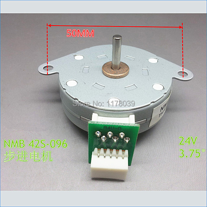 4 phase 5 wire stepper motor,Thin type NMB 42S 096 Step Angle 3.7 ...