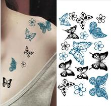 Butterfly Image Temporary Tattoo Stickers Shoulder Decoration Temp Tattoo #r131