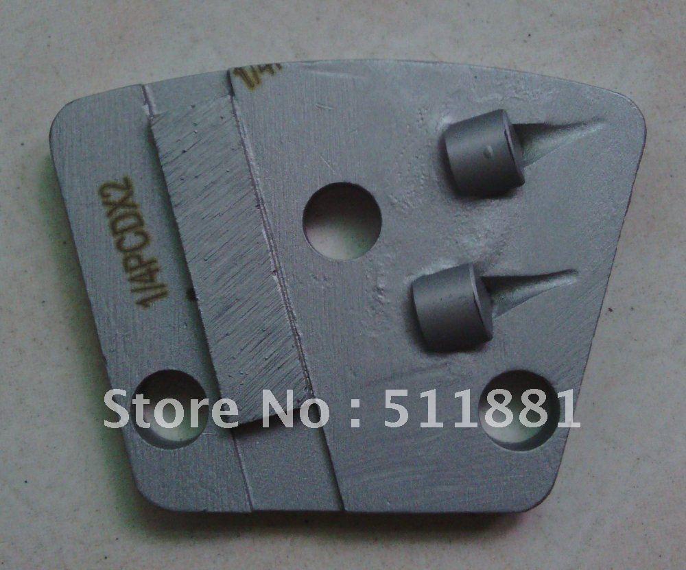 Pattini PCD Blocco PCD Blocco PCD per la rimozione di rivestimenti epossidici con spessore 1-3mm | installare nella lucidatrice per pavimenti NCCTEC L357, L4480, L4580, L4680