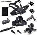 Easttowest GoPro Accessories Kit Set Head Belt Chest Strap Bike Mount Holder for Xiaomi Yi Action Camera Gopro Hero 4 3 SJ4000