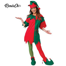 Reneecho 2018 Christmas Costume Adult Sexy Santa Claus Women Mrs Christmas  Elf Dress Cosplay Hat Carnival Party Fancy Dress a10da21bfdab