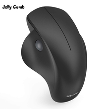 Jelly Comb 2.4GHz Wireless Mouse Silent Click Mute Mice Ergonomic Mouse for Computer Laptop PC Desktop Notebook Vertical Mause