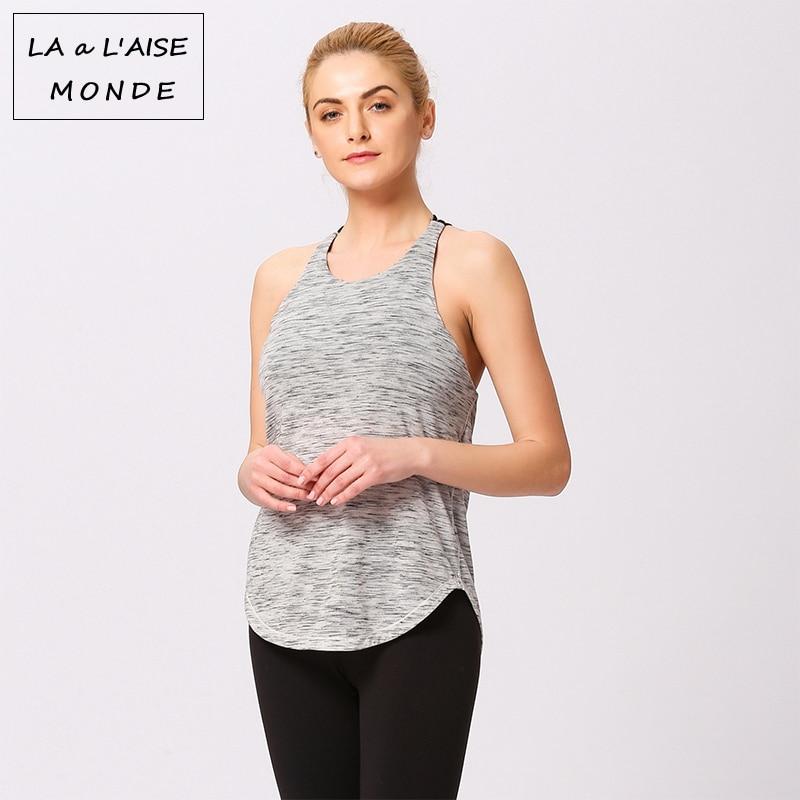 Open Back Top Sporty T shirt Woman Sports For Women Active Wear Workout Tops  Fitness Shirt Gym Tank Yoga Sport Women's Jersey|Yoga Shirts| - AliExpress