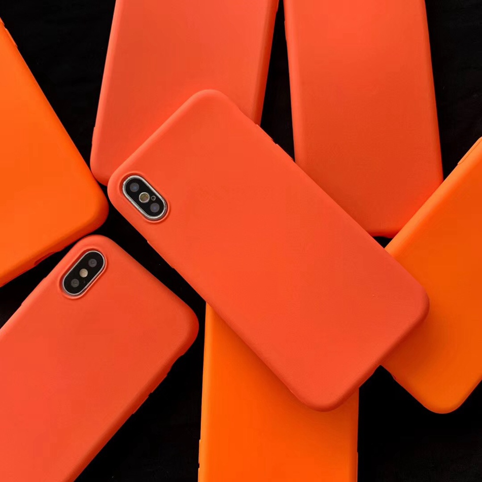 pretty nice f58d5 80db4 US $1.03 18% OFF|Aliexpress.com : Buy For Samsung S8 Case Fashion Orange  Cover For Galaxy S8 S9 Plus Cute Print Matte Soft TPU For Samsung Note 8  Note ...