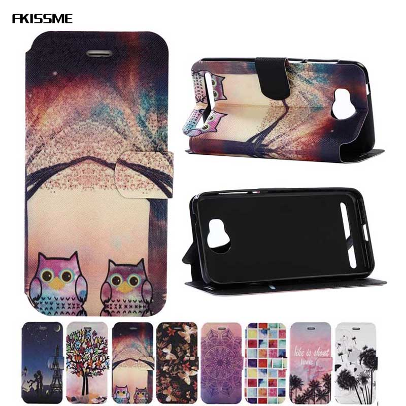 FKISSME For Huawei Y3 2 Case Tower Owl Paint Wallet PU Leather Case for Huawei Y3 II Flip Cover Mobile Phone Bags Fundas Shell