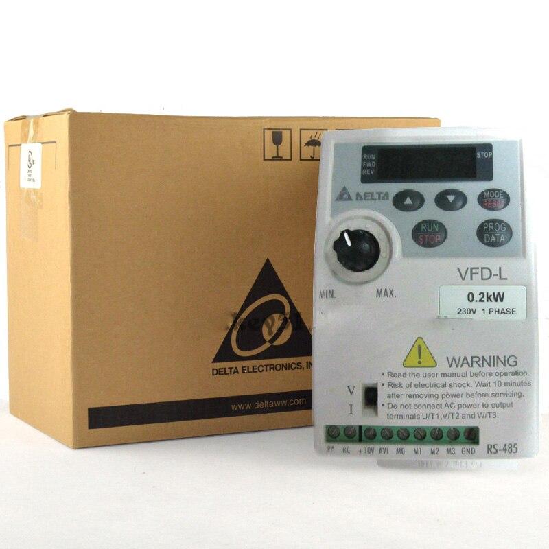 VFD-L Series VFD002L21A Inverter 220V 0.2KW