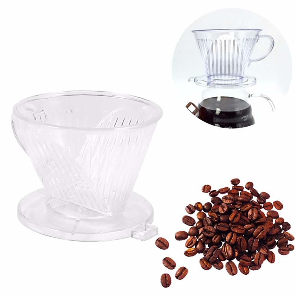 1PC 85x60mm Plastic Clear Coffee Maker Filter Cup Cone Drip Dripper Brewer Holder New(China)