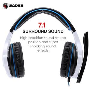 Image 3 - SADES SA 903 高性能 7.1 USB PC ヘッドセット重低音ゲーミングヘッドフォン Led Micphone ゲームプレーヤー