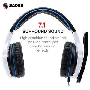 Image 3 - SADES SA 903 High Performance 7.1 USB PC Headset Deep Bass Gaming Headphones With LED Micphone For Games Player