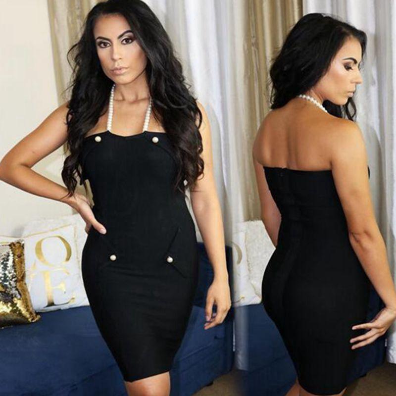 Us 420 Kim Kardashian Dress Sexy Celebrity Halter Backless Elegant Gown White Black Red Bandage Dress Vestidos Cocktail Party Dresses In Dresses