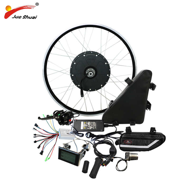"48V 1000w Electric Bike Conversion Kit with 48V 20AH  Battery Motor Wheel for 20"" 26"" 700C Powerful Ebike electronic diy kit"