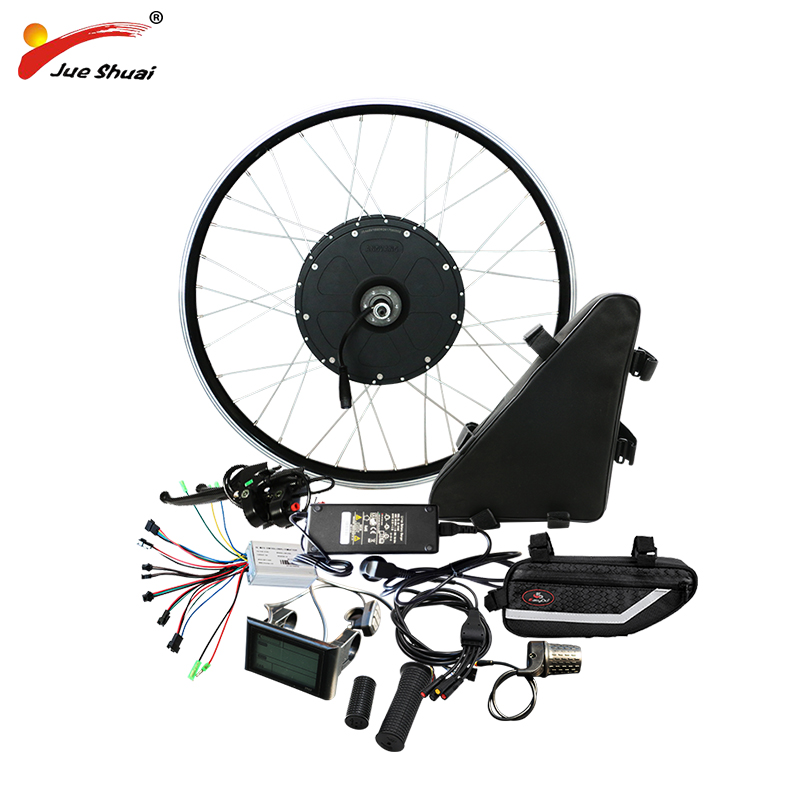 48 v 1000 w Kit de Conversão Bicicleta Elétrica com Bateria 48 v 20AH Volante Do Motor para 20 26 700C Poderoso Ebike kit eletrônico diy