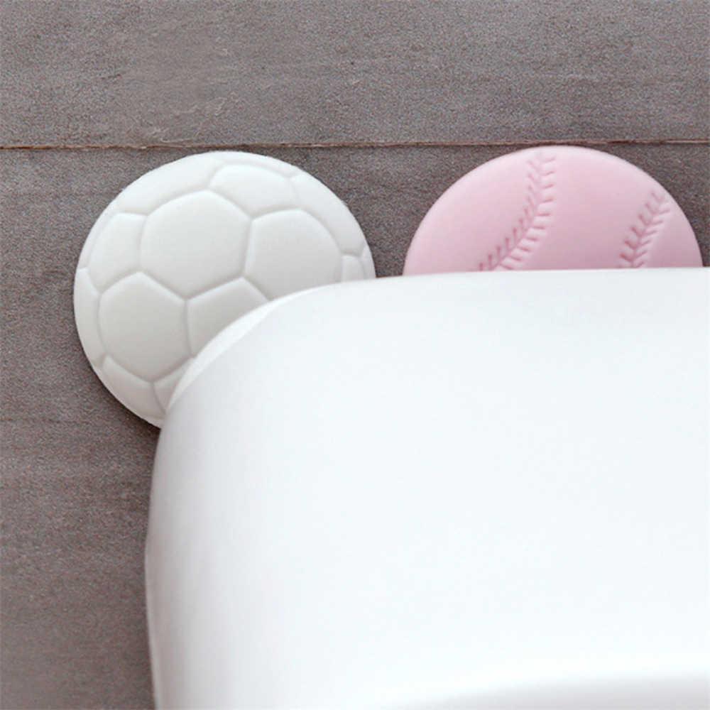 Espessamento mute porta rolhas silicone porta fender maçaneta da porta pára-choques guarda amortecedor silenciador bater almofada adesivos protetores de parede