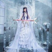 Японское аниме, карточный Captor KINOMOTO SAKURA, прозрачная карточка Tomoyo Daidouji, косплей костюм, женское платье, косплей, наряды, горячая Распродажа