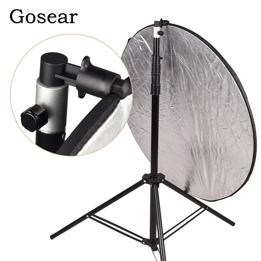 Gosear Aluminum Photo Video Studio Photography Background Holder Reflector Holder Softbox Disc Clip for Light Stand 55 x 73mm