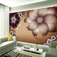 Custom 3D mural living room upscale European flower TV background wall decoration painting wallpaper mural photo wallpaper free shipping european classical oil painting flower sea living room bedroom wallpaper 3d custom exhibition office gallery mural