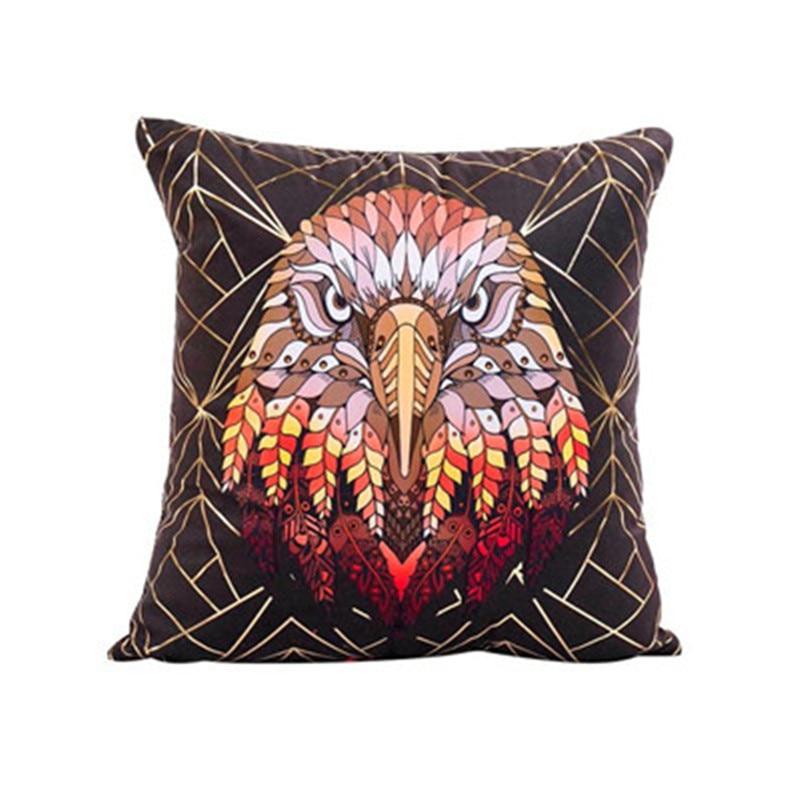 43cmX43cm cushion cover Gold Foil Tiger owl printing Sofa Waist Throw pillow Cover pillowcases Home wedding Decor 2018 Summer