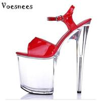 Platform Sandals Summer Style 2015 Catwalk Shows Flash Piece Of Steel Pipe Shoes Sexy Ultra High