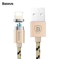 Магнитный usb-кабель Baseus для iPhone X 10 8 7 6 6s 5 5S se Магнитный зарядный кабель для передачи данных Магнитный зарядный кабель