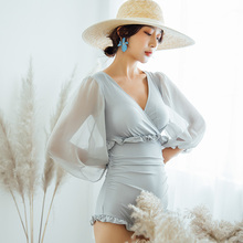 2019 New Sexy Off Shoulder Swimwear Women One Piece Swimsuit Female Bathing Suit Ruffle Monokini Korean Swim Wear XL