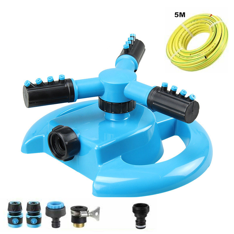 360 degree Rotary Automatic Sprayer Garden Sprayer ABS Plastic Gardening Irrigation System Garden Tools Mist Water Sprayer