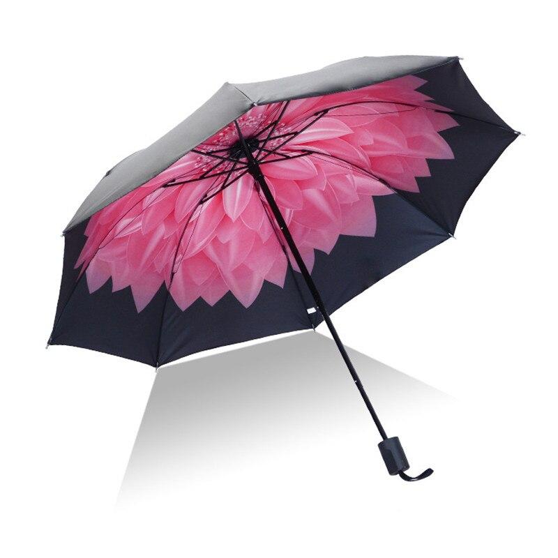 Folding Umbrella Rain Women Girls Clear UV Protection Portable Unique Polka Dot Mini Umbrellas Small Sombrilla Girl Gift,Style 4