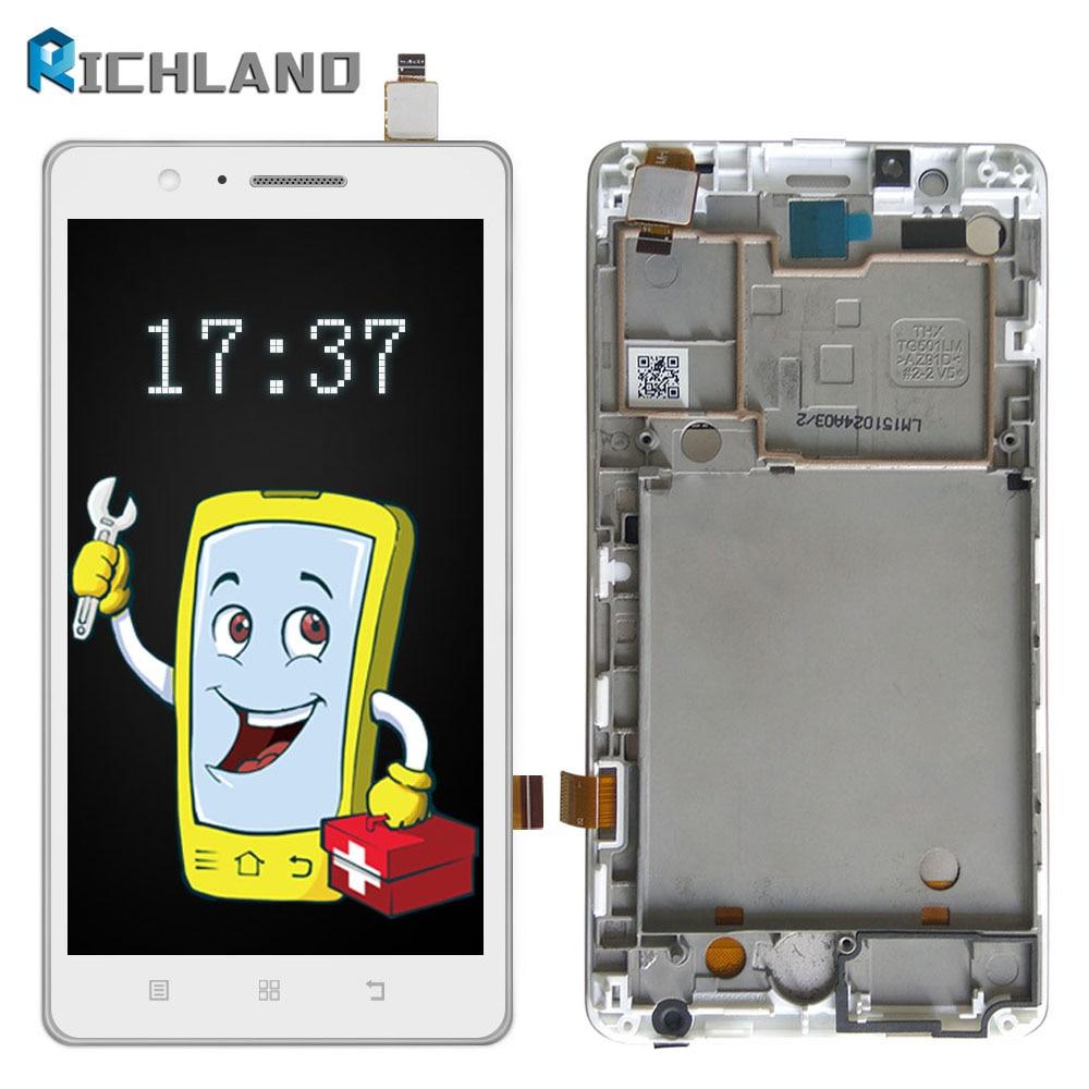 100% geprüfte Original Für Lenovo A536 LCD Display Mit Touchscreen Digitizer Montage Mit rahmen + Für Lenovo A536 Reparatur werkzeug-set