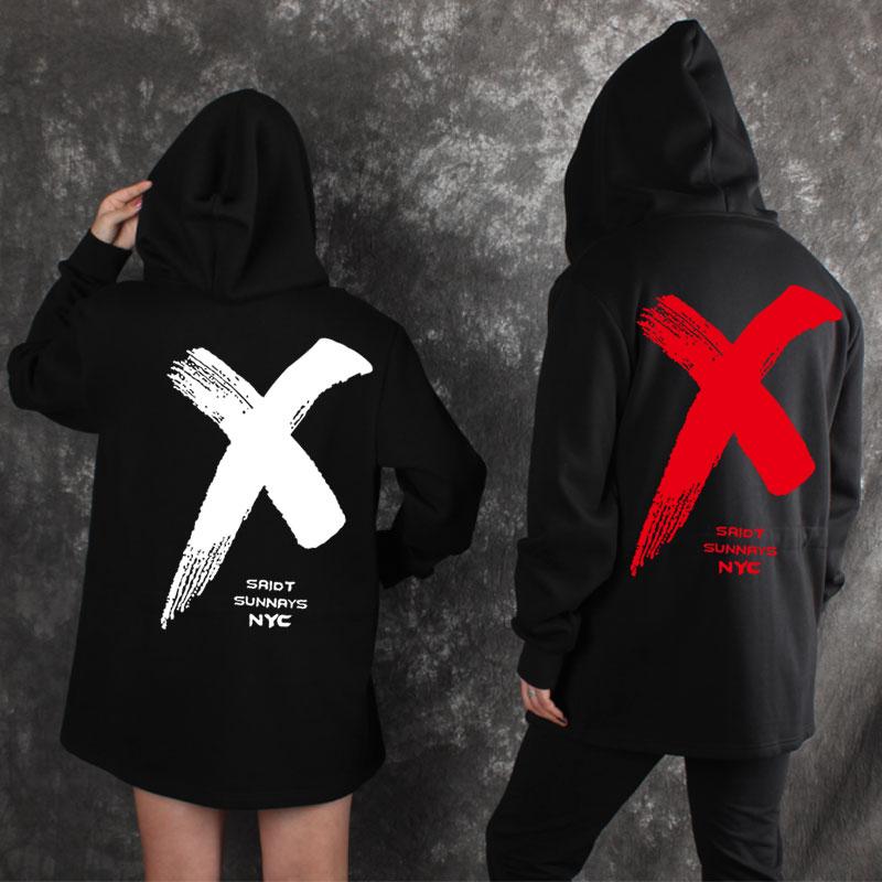 MIDUO Harajuku hoodies mens Hooded hoodie men 3D coat moletom large X oversized hoodie z ...