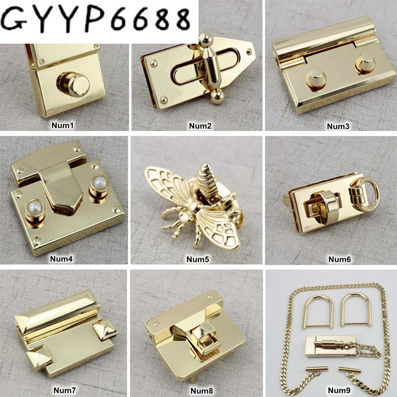 1et 10sets High Quality Making Men Office Briefcase Bags' TrunkLock Snap Clasps,Man Bags Purse Metal Tunk Lock
