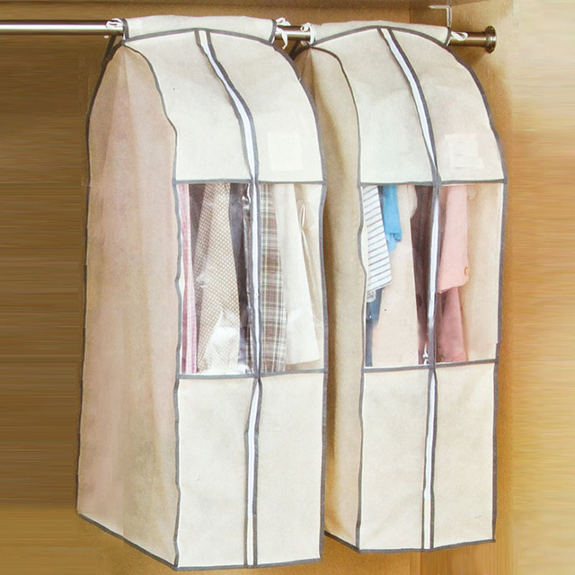 9d3f61dd02baf6 Free Shipping 2016 New Dress Clothes Garment Suit Cover Bag Dustproof Jacket  Skirt Storage Protector
