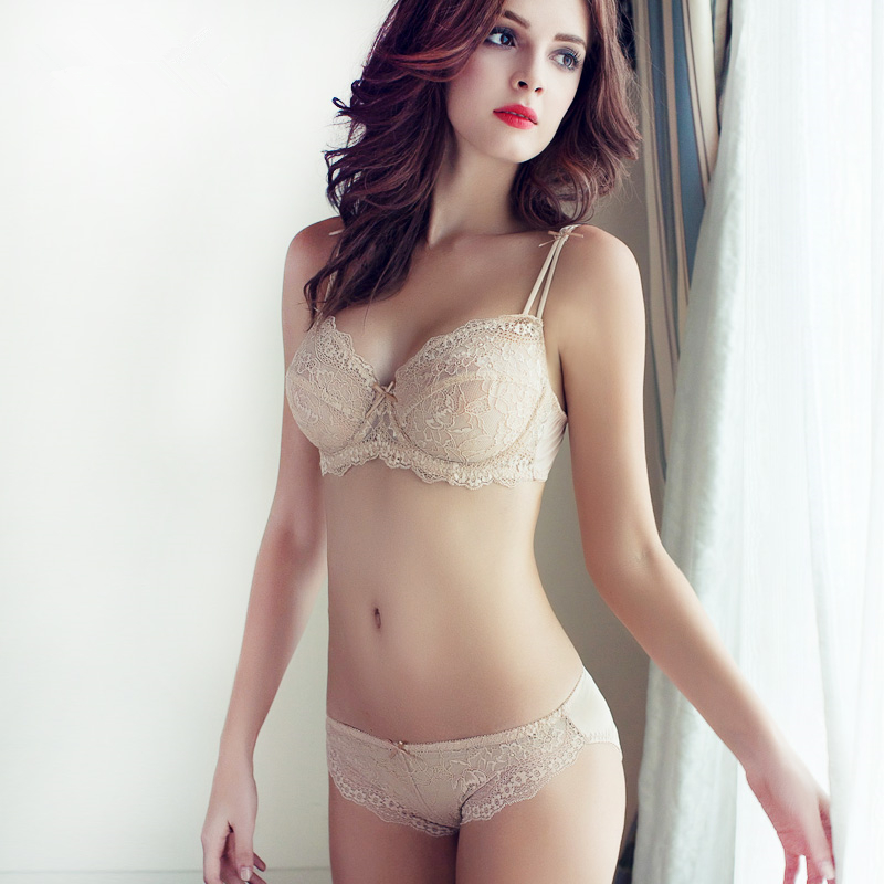 TERMEZY Women bra set plus size lace lingerie set Push up brassiere Sexy Lace  Underwear thin 606118d00