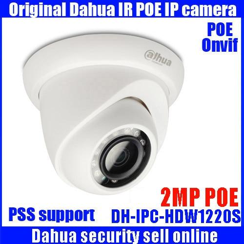 DAHUA IP Camera IPC-HDW1220S 2MP Full HD Network Small IR Eyeball Camera HDW1220S IP67 Support POE and Onvif English version in stock dahua ipc k200wn 2mp ip66 hd cube network camera
