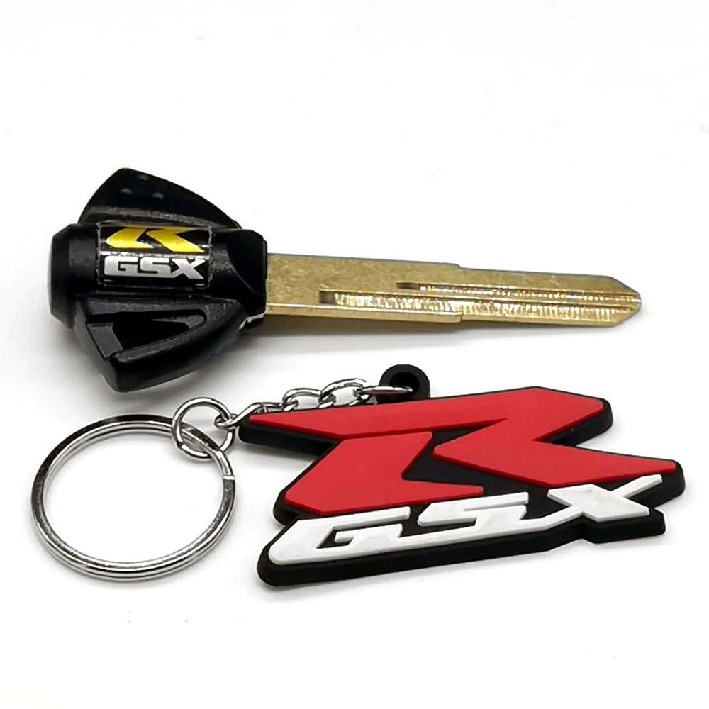 Decal Story 3 x Motorcycle Blank Key Fob Uncut Blade for Suzuki GSXR Hayabusa GSX1300 R