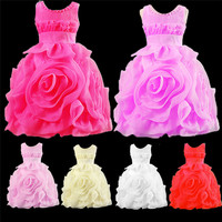 MQA 88 Baby Girl Clothes Kids Girl Dress Children Girl Beautiful Princess Party Casual Design Girl