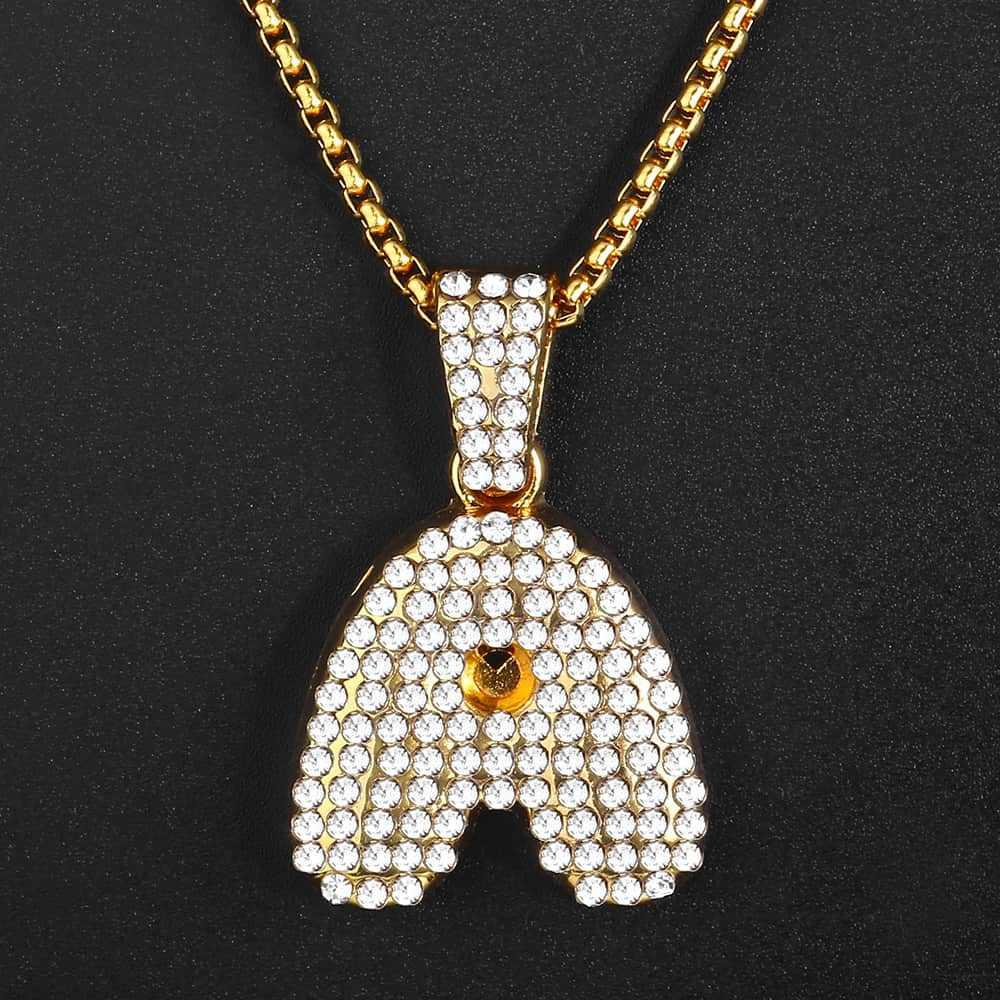 Rhinestone breloczek z inicjałem A-Z damskie naszyjniki żółte złoto Link łańcuszek wisiorek naszyjniki dla kobiet HGP398A