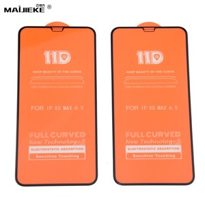 Image 2 - 10PCS 11D Tempered Glass For iPhone 11 pro max screen protetor For iPhone XXS Max XR 8 7 6s 6 plus Screen Protector Film