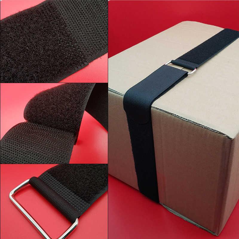 1M Nylon Velcro Kargo Tali Bagasi Dudukan Pengikat Tali Gesper Ratchet Tali Pengikat Tali Luggale Sabuk Tali untuk Sepeda Motor