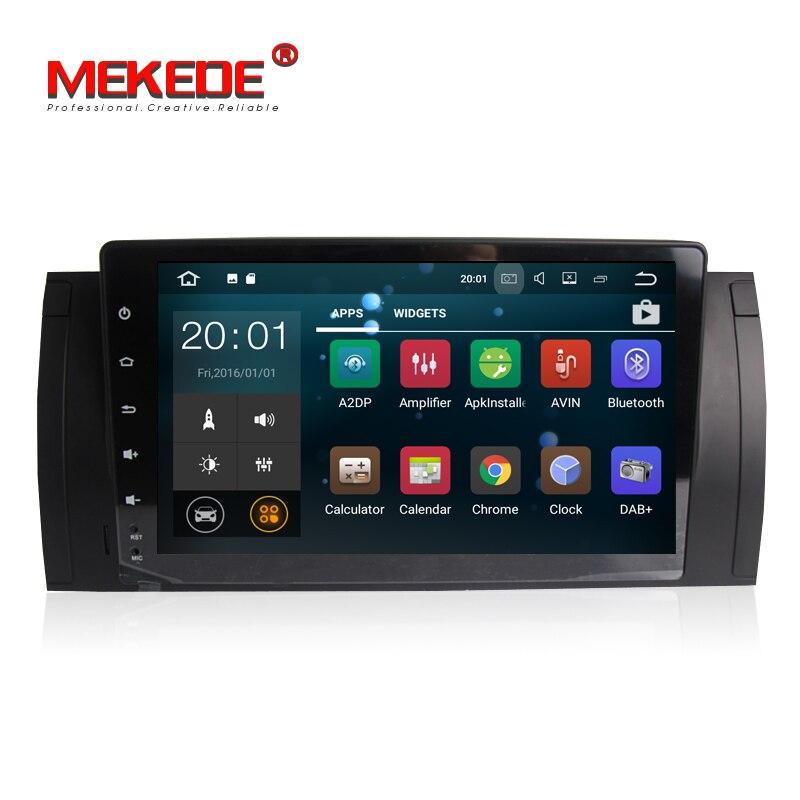 Livraison gratuite! 9 pouces pur android 7.1 autoradio lecteur dvd pour Bmw E39 X5 M5 E53 voiture stéréo tête unité, y compris canbus wifi BT