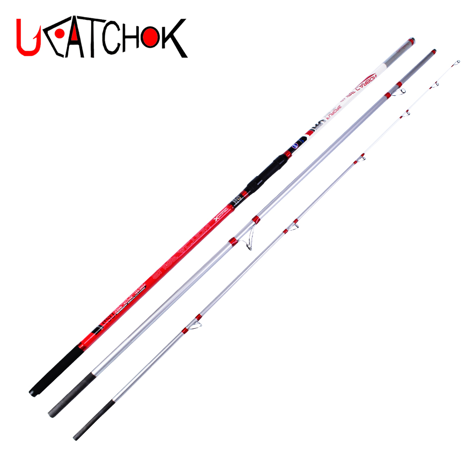 4.2M Max. 350g CW surf rod Superhard 40T&30T mixed carbon fiber beach long cast fishing carp rod 3sections far shot fishing rod