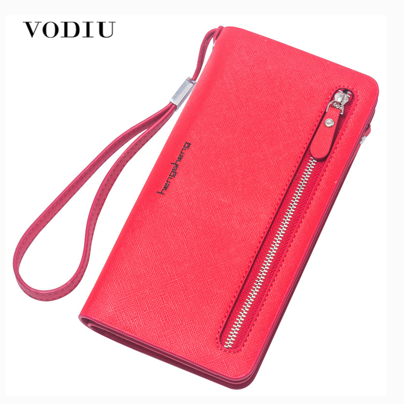 Wristlet travel women long wallet double zipper female clutch coin card phone card holder brand leather casual dollar cute purse dollar price women cute cat small wallet zipper wallet brand designed pu leather women coin purse female wallet card holder