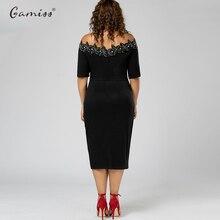 Plus Size Applique Trim Short Sleeve Pencil Dress Split Party Off Shoulder Dress Vintage Office Work Wear Midi Dress