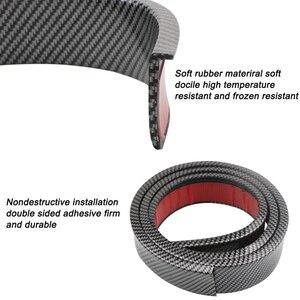 Image 2 - Guardabarros anticolisión para rueda de coche, 2 uds., 1,5 m, Universal, protección de goma para coche, pegatinas para rueda de coche