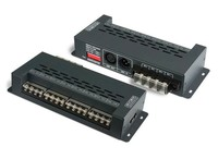 2017 DMX Decoder Converts 6 RGB Strip Controller DMX512 Decoder XLR-3 RJ45 Port 12V Multi 8 Channel Output LT-898