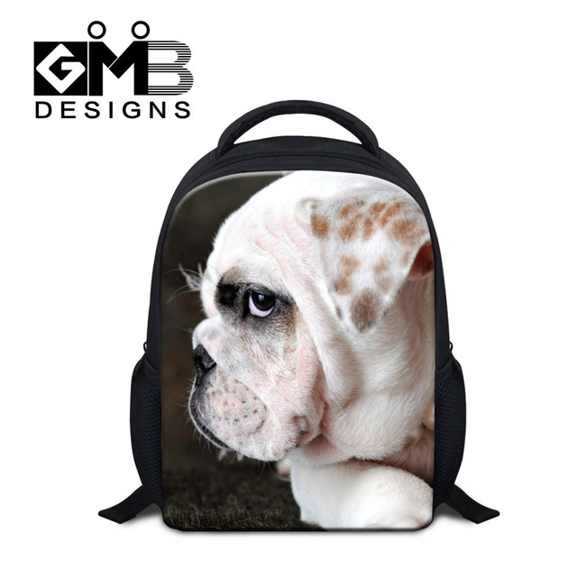 Dispalang 12 Inch Children School Bags 3D Dog Animal Print Mini School Backpack For Boy Girls Kids Book Satchel Mochila Infantil