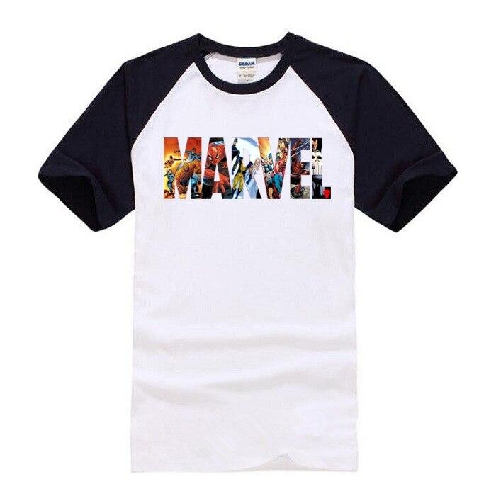 2018 Fashion Marvel t shirt men summer new The Avengers Superhero 100% cotton high quality raglan t-shirt Casual tshirt T-shirts